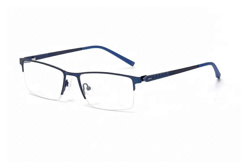 Half Frame Glasses Blue